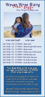 Woven Wrap Sizing Guide What Is Base Size Baby Wrap