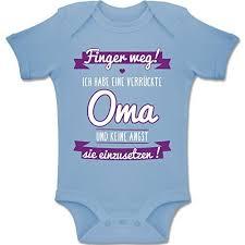 Shirtracer Sprüche Baby Ich Habe Eine Verrückte Oma Lila Baby