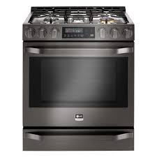 Home Depot Appliance Warranty Lg Studio 63 Cu Ft Gas Range With Warming Drawer In Black