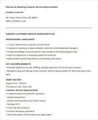 Customer Service Representative Resume Delectable Customer Service Representative Resume 28 Free Sample Example