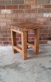 wood stool wood side table rustic wood stool reclaimed wood side table bar stool bedside table
