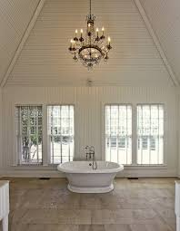 chandelier for cathedral ceiling vaulted ceiling bathroom traditional bathroom y pads