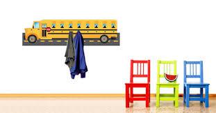 School Coat Racks Extraordinary City School Bus Decal Coat Racks Dezign With A Z