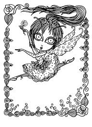 5 Pages Downloadable 5 Pack Bundle Coloring Pages Funky Fairy