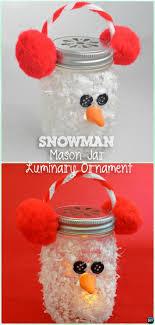 diy mason jar snowman luminary lights instruction diy mason jar lighting craft ideas