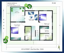 30x40 north facing house plan with car parking fresh 40 x house plans south facing house