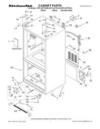 kitchenaid refrigerators ice maker dazzling ideas kitchen aid refrigerator parts wiring diagram for kitchenaid readingrat net