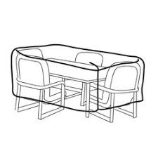 rectangular patio furniture covers. Weather Wrap® Rectangular Table \u0026 Chairs Cover Patio Furniture Covers
