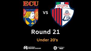 Graphic Design Joondalup Football West Npl Wa U20s Round 21 Ecu Joondalup Sc Vs Balcatta Fc Footballwest Npl