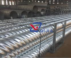 corrugated steel culvert pipe