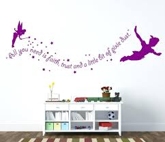 shocking ideas peter pan wall art room decorating decals es decal artwork con shadow e