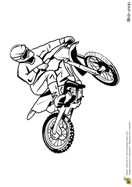 Dessin Colorier Moto Cross Sur Circuit
