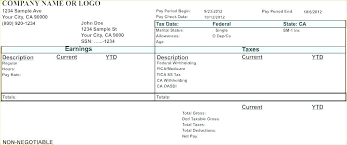 Microsoft Payroll Templates Blank Payroll Check Stub Template Bank Statement Pay