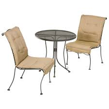 comfortable patio chairs aluminum chair: cozy rialto wrought iron bistro furniture set by woodard furniture for your patio design ideas