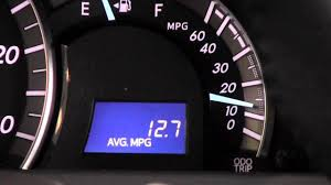 Avg Gas Mileage 2012 Toyota Camry Average Fuel Economy Meter How To By