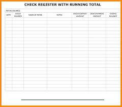 Checkbook Register Downloads Free Printable Check Register With Running Balance Best Of Checkbook
