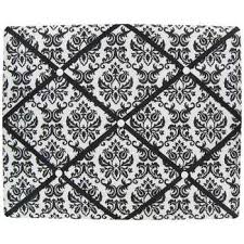 Damask Memo Board Black White Damask 100 x 100 Memo Board Future Room 2