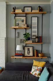 bookcases living room bookcase wall mounted wood shelves living room floating shelves ideas