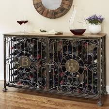 wine rack console table. Full Size Of Kitchen, Outstanding Metal Wine Racks Personalized Jail Console Table Solid Wooden Rack O