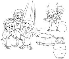 Ideal Jesus Being Baptized Coloring Page Z7956 Baptism Coloring