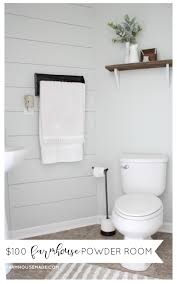 i cannot believe how amazing this farmhouse style powder room turned out the best part