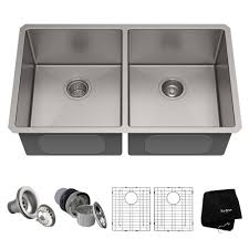 Kraus Standart Pro 33in 16 Gauge Undermount 5050 Double Bowl