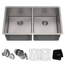 16 gauge undermount 50 50 double bowl stainless steel kitchen