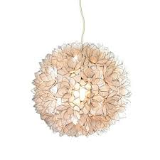 lotus flower chandelier white large by roost lighting