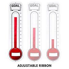 Fundraising Progress Chart Fundraising Thermometer Chart Goal Tracker Dry Erase Goal