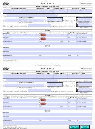Free California Bill Of Sale Forms Pdf