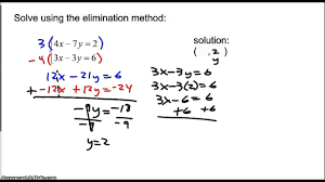 solving systems of equations elimination method special cases