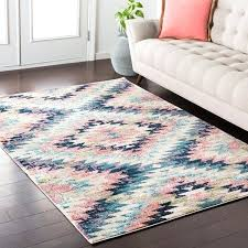 modern geometric pastel pink amp navy area rug boho rugs canada area rugs