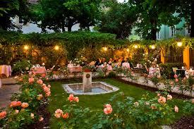 romantic atmosphere at the rose garden in graz