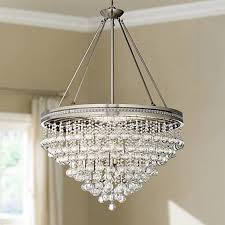 mini brushed nickel crystal chandelier with remodel 8
