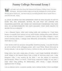 college essay word pdf documents  funny college personal essay