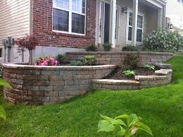 Small Picture Multi Tiered Retaining Wall This unique retaining wall design
