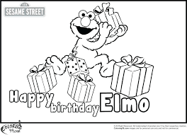 elmo birthday coloring pages. Wonderful Birthday Elmo Coloring Pages Printable Free  Online  To Elmo Birthday Coloring Pages D