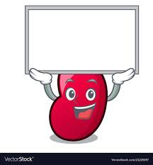Up Board Jelly Bean Character Cartoon