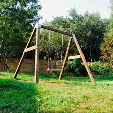 details about diy garden swing set brackets wooden frame outdoor kids childens s pair