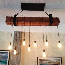 rustic wooden beam industrial chandelier wood lamps restaurant bar chandeliers