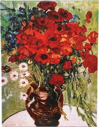 daisies poppies by vincent van gogh painting print on wrapped canvas