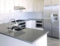 quartz gray gorgeous grey kitchen white cabinets with l photos countertops dark g
