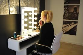 16 Photos Gallery of: Make a Vanity Makeup Desk With Lights