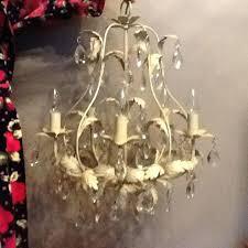 cream chandelier grey with 6 shades pinkfolio