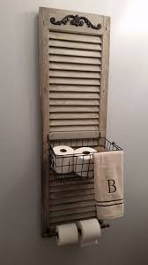 25 Toilet Paper Holder Ideas that will Get Your Decorating on a Roll.  Repurposed ShuttersDiy ...