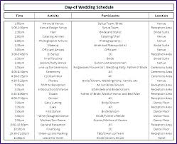 Wedding Day Timeline Excel Wedding Day Timeline Sample And Template How To Line Up