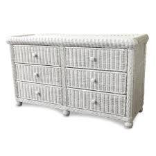 white wicker dresser. Perfect White 6 Drawer Double Dresser Inside White Wicker Wayfair