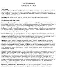 10 Contractor Job Description Samples Sample Templates