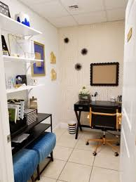 Black and white office design High End Tiny Black White And Gold Office Transformation Glam Office Under 50 Sqft Dezeen Tiny Black White And Gold Office Makeover Glam Look Under 50 Sqft