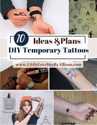 10 diy temporary tattoos ideas how to